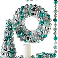 Teal And Silver Christmas Tablescape