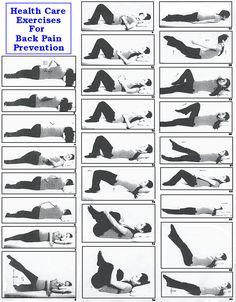 Back Pain Exercises Patient Handout on Pinterest   Low Back Pain, Back ...