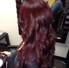 Burgundy hair I want this color so pretty!