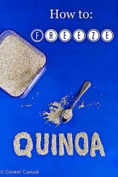 How to: Freeze Quinoa {And Quinoa Recipe Link-Up} #quinoa #healthy by @Cookin' Canuck Dara Michalski