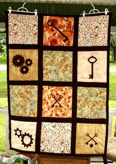 Steampunk Quilt - sold but gorgeous nonetheless