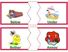 A Matching Activity for Synonyms! $
