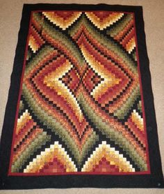 bargello quilt | bargello-quilt.JPG. What a beautiful pattern.  I love quilts with more modern patterns.