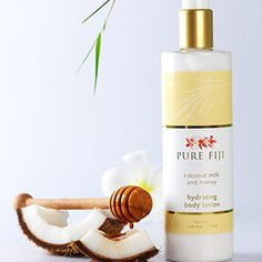 Pure Fiji Hydrating Body Lotion - Coconut Milk & Honey Infusion    #Fiji, #Coconut, #Milk & Honey, #Milk, #Honey, #Island, #Pure Fiji, #Skin Care, #Exotic, #Tropical, #Coconut Oil, #Organic