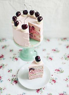 Cherry Vanilla Cake Recipe