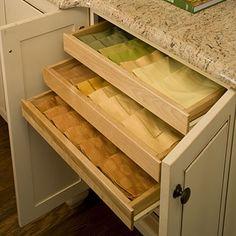 Linen storage in kitchen!