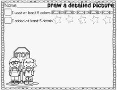Let's Work On Writing {Drawing a Detailed Picture}