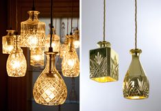 vases and glassware as light shades
