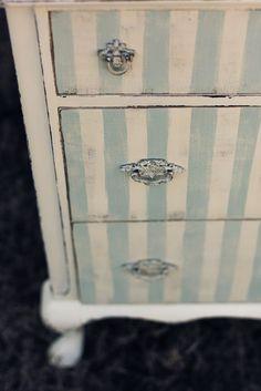 The Green Dresser.: Striped Chest....beach house...