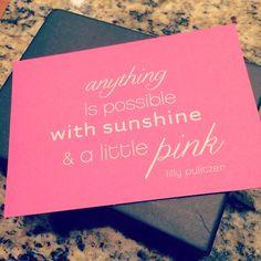 Sunshine and Pink