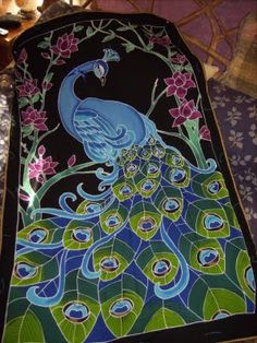 WonderlandShoppe: Peacock Applique Quilt Block