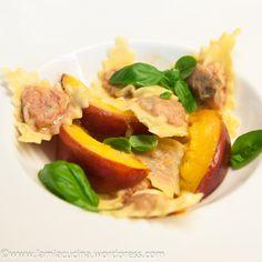 Tomato Ravioli with Peaches