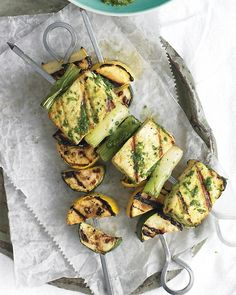 Tofu Kebabs with Cilantro Sauce - Martha Stewart Recipes