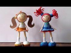 Fofuchas -  paso a paso + moldes  Foamy doll