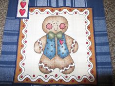 Sweet Blue Gingerbread Man Towel by yoginix on Etsy, $6.99