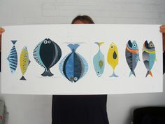 Love these fish prints for a little boys room!