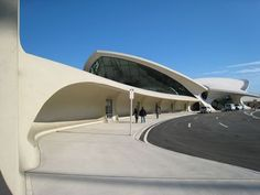 Eero Saarinen's TWA Terminal at JFK Airport, NY.
