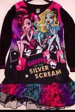 MONSTER HIGH Girls Long Sleeve Nightgown NEW Gown Sleepwear Size 7/8