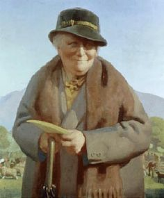 Portrait of Beatrix Potter in her early 70s by Delmar Banner