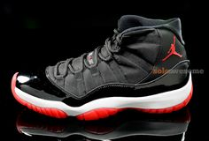 Air Jordan XI – Black – Varsity Red – White - 2012