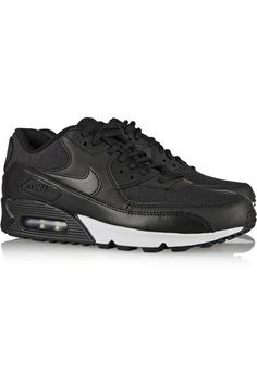 NIKE Air Max 90 leather and printed jacquard sneakers $110
