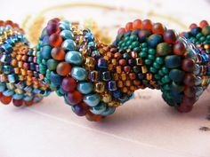 Dutch Spiral Beaded Necklace