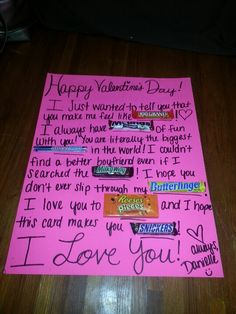 Valentines Day Candy Card