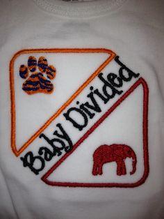 Baby+Divided+Auburn+vs+Alabama+by+embbug+on+Etsy,+$11.50