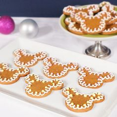 These Mickey Mouse Gingerbread Cookies will make the season bright.