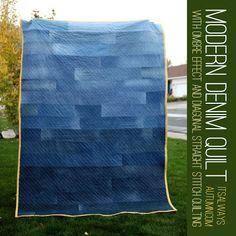 Free pattern day !  Denim quilts