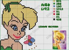 Tinker Bell perler bead pattern