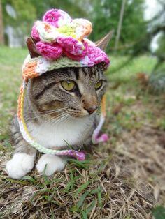 Flower Cat Hat Costume  by iheartneedlework, $14.00