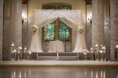Romantic White Jewish Wedding Chuppah (Huppah) {Bradley Images} - mazelmoments.com