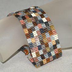metal color, peyot bracelet, bracelet creat, bead, handmad peyot, loom bracelets, cuff bracelets, handmade jewelry, patchwork mine