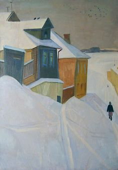 Twilight in Izborsk Town, 1974, Sergei Ivanovich Osipov. Russian (1915 - 1985)