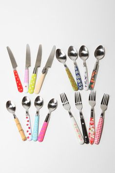 mix match, urban outfitters, colors, mixmatch, cutlery
