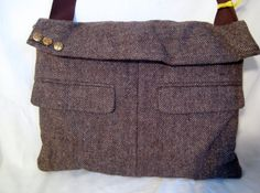CLEARANCE!! Suit Coat messenger / laptop bag - OOAK upcycled on Etsy, $30.00