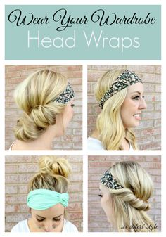 4 Ways to Wear a Head Wrap to beat the summer heat!   SixSistersStyle.com