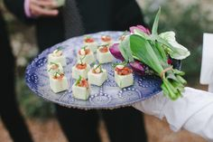 Seems like these appetizers POP off this pretty plate! Nice presentation.