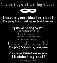 The 12 Stages of Writing a Book