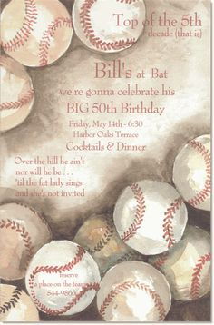Cool baseball invite