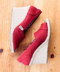 #zulily! Red Canvas Wedge #zulilyfinds