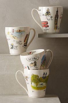 city vignette mug #a