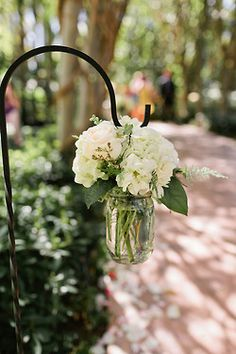 Shepherd's with Mason Jar = great accents for outdoor entertaining.