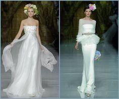 ¡Un look con tocado de flores para novias e invitadas!