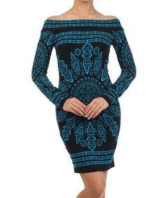 Arabesque Off-Shoulder Dress ++
