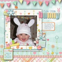 Cute Little Bunny, digital layout by pawprints