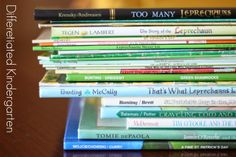 Getting them engaged for St. Patrick's Day with a great collection of books. Differentiated Kindergarten's St. Patrick's Day Library