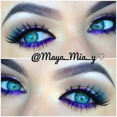 purple eyeliner <3