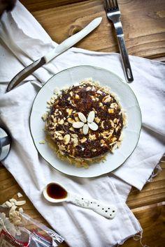 Date & Fig Almond Cake with Sea Salt. #glutenfree #raw #vegan